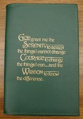 Al-Anon 12 & 12 Hardback Book Cover w/Serenity Prayer