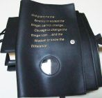 12 Step Recovery AA Leather Double Book Cover/Embossed Serenity Prayer