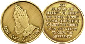 Bronze Affirmation Praying hands