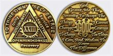 God centered Sunlight of the Spirit AA coins by recovery-world.com