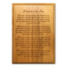 Footprints in the sand Engraved Plaque