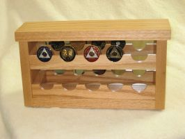 Wood Hand Made 10 Coin Display Case, All Recovery Gifts-by ...