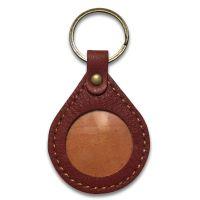 06ea9f2571d Handmade Rain Drop Leather Medallion Holder Key Ring